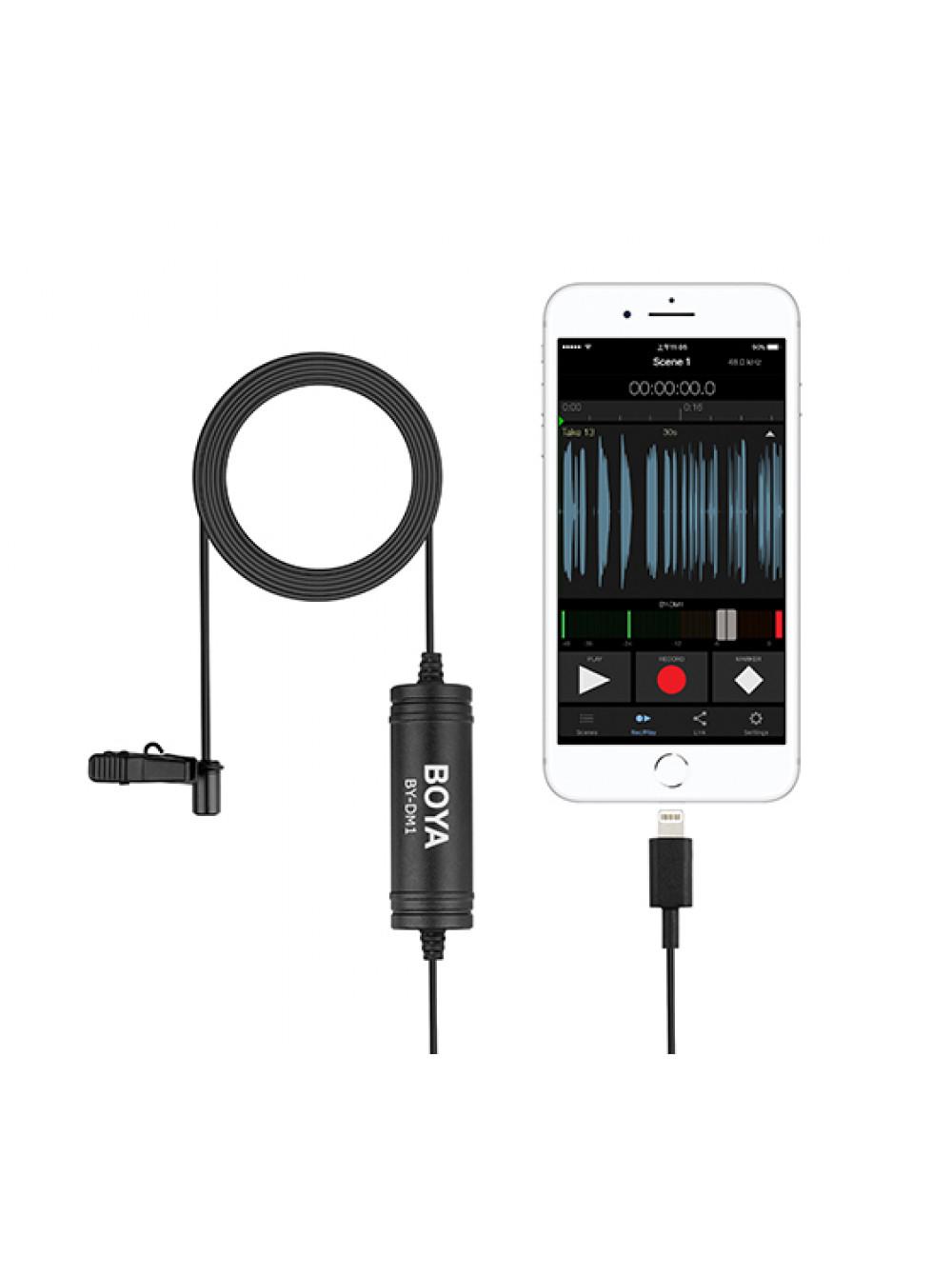 Boya BY-DM1 Петличный микрофон для Apple iPhone