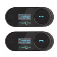 Мотогарнитура FreedConn T-COM-SC с FM радио и LCD дисплеем Dual Pack