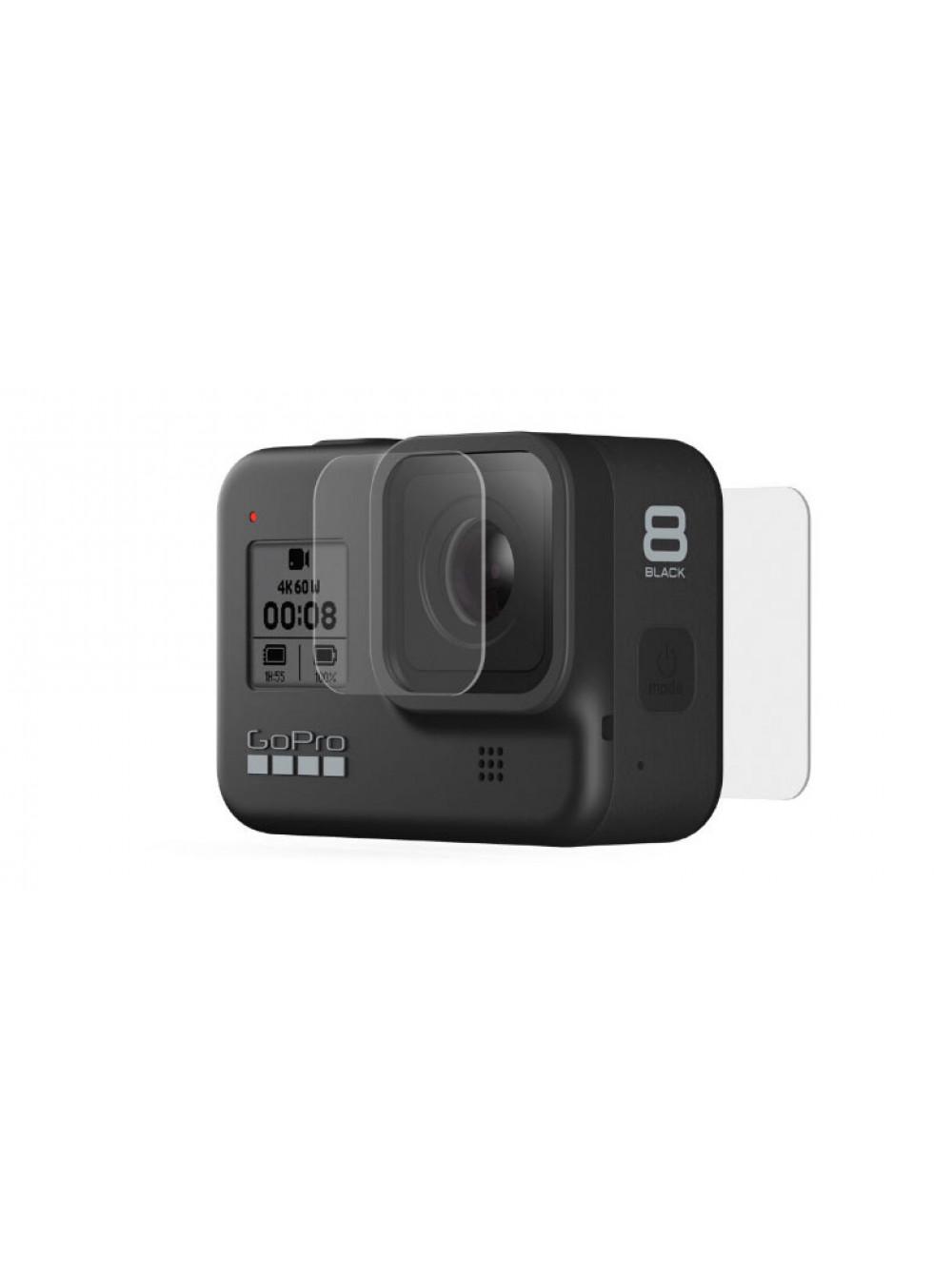 Защитное стекло GoPro Hero 8 Tempered Glass Lens+Screen Protectors (AJPTC-001)