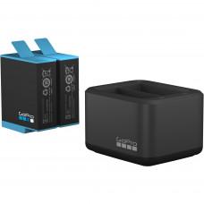 Зарядное устройство для двух батарей Hero 9 Black  и Hero 10 GoPro Dual Battery Charger + Battery (ADDBD-001)