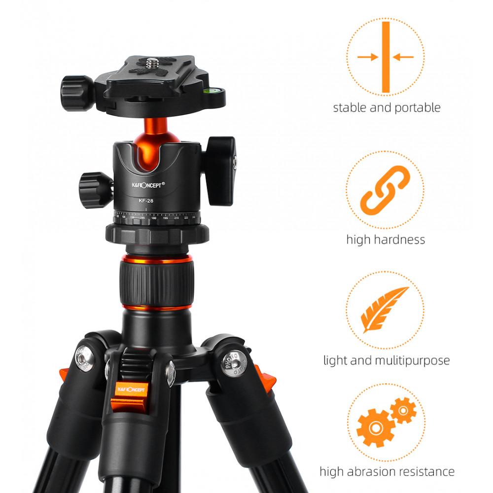 Штатив для камери з регульованою висотою K&F SA234 KF09.080