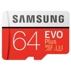 Карта памяти Samsung microSDXC 64GB UHS-I U3 EVO Plus (MB-MC64GA/RU)