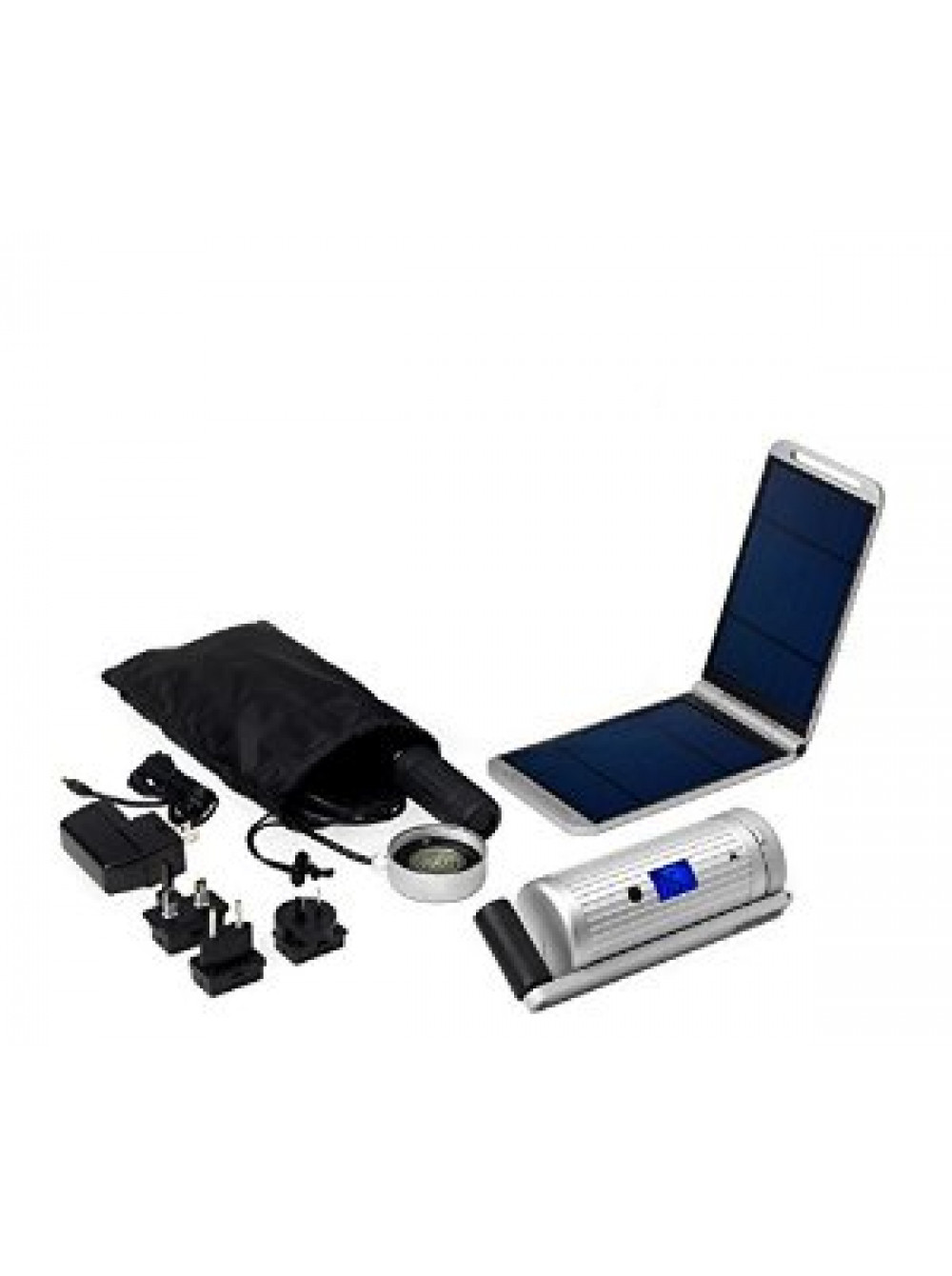 Powermonkey Expedition Hand crank - Solarmonkey - Silver Full kit