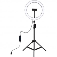 """Кільцева USB LED лампа Puluz PKT3056B 11.8 """"+ штатив 1.1 м"""