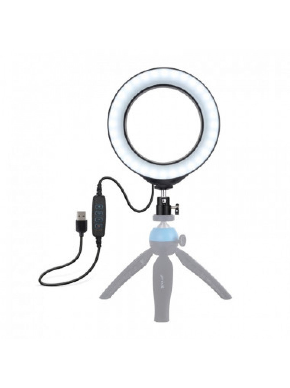 "Кольцевая USB LED лампа Puluz PU378 6.2"" (16см)"