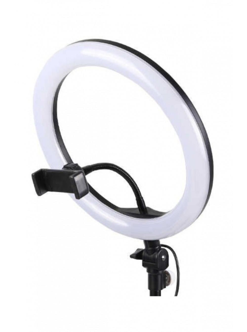 Кольцевая USB Led лампа 26см + штатив + bluetooth пульт