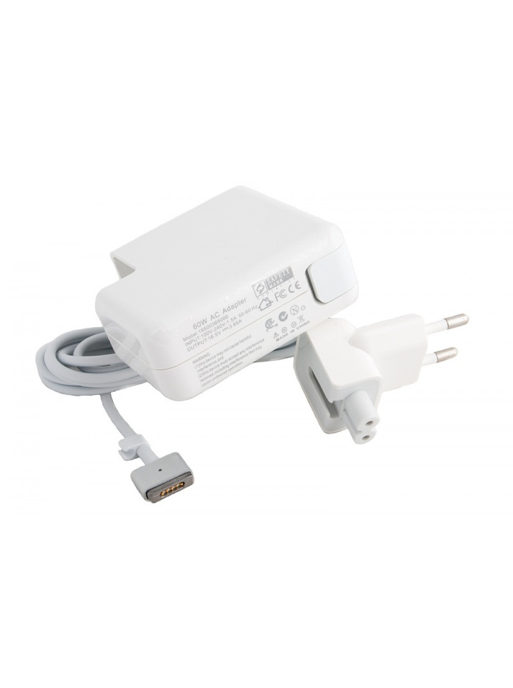 Зарядное устройство для Apple Macbook PowerPlant 220V, 16.5V 60W 3.65A (MagSafe 2)