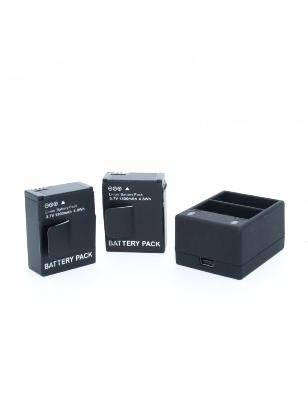 Комплект 2 батареи для GoPro HERO 3 + Dual USB Charger