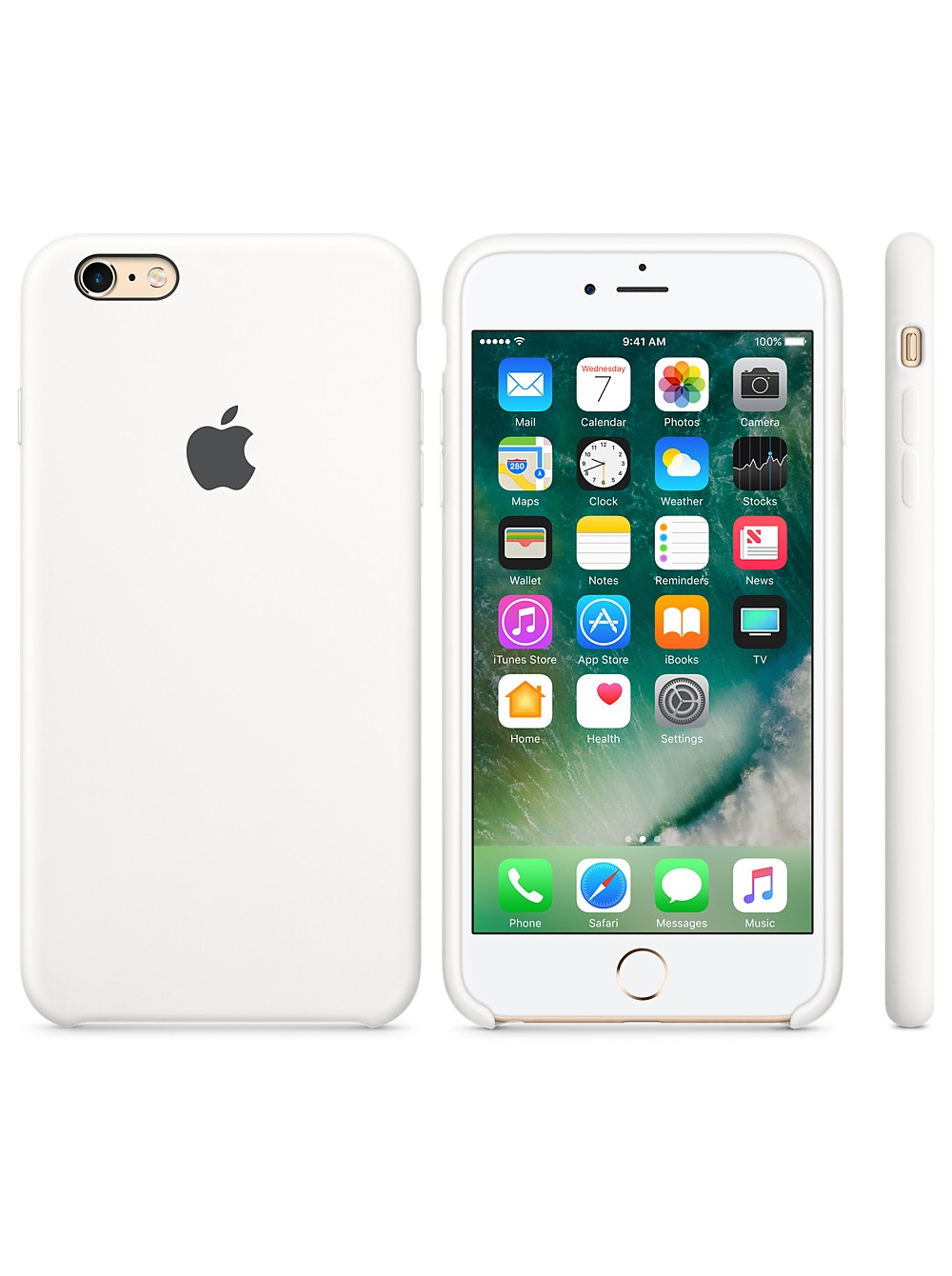 Чехол накладка Silicone Case Iphone 6 6s (White)