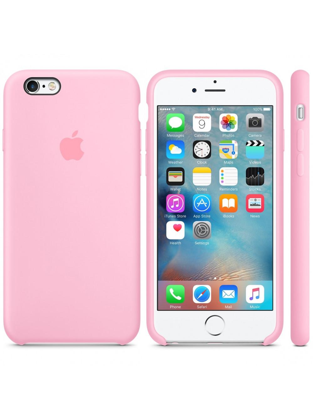 Чехол накладка Silicone Case Iphone 6 6s (Light Pink)