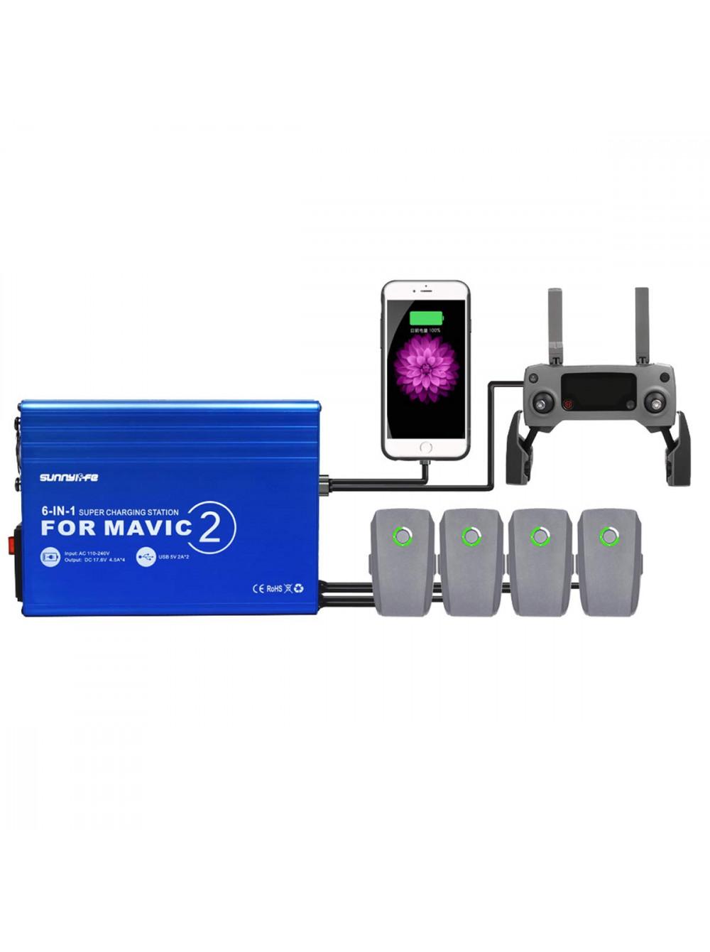 Зарядное устройство 6 в 1 для DJI Mavic 2 Sunnylife