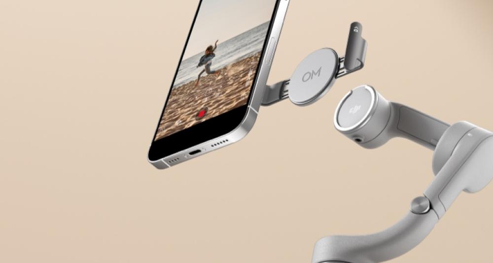 В комплектацию Osmo Mobile 5 входит два магнитных крепления.